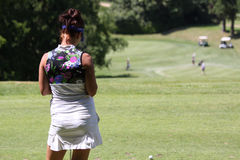 Galina Rotmistrova at the Fourqueux golf Ladies Open Royalty Free Stock Image