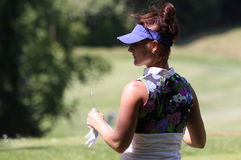 Galina Rotmistrova at the Fourqueux golf Ladies Open. FOURQUEUX  GOLF COURSE, FRANCE –JUNE  07 ,  2013 Stock Images