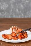 Galinha asiática do alimento com arroz Imagem de Stock Royalty Free