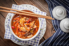 Galinha chinesa com vegetais Fotografia de Stock