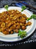 Galinha chinesa da castanha de caju Fotografia de Stock