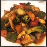 Galinha chinesa de Kung Pao fotografia de stock