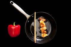 Galinha com abacaxi Fotografia de Stock
