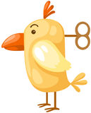 A galinha com enrola acima a chave Fotografia de Stock