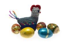 Galinha com ovos de easter Imagem de Stock