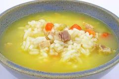 Galinha com sopa do arroz Imagens de Stock