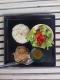 Galinha cozida com arroz Imagens de Stock