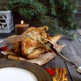 Galinha cozida para o Natal imagens de stock