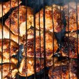 Galinha cozinhada no fogo Imagem de Stock Royalty Free