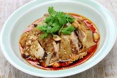 Galinha da saliva, galinha mouthwatering, culinária de China Sichuan foto de stock