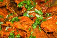 Galinha de Tandoori, uma culinária indiana, cozinhada no estilo do Kashmiri fotos de stock