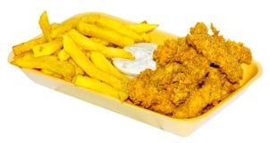 A galinha descasca o menu Imagens de Stock
