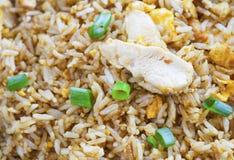 Galinha do arroz fritado com cebola verde imagens de stock