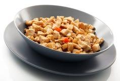 Galinha do prato com amêndoas Fotografia de Stock