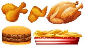 Galinha e fast food Fotografia de Stock