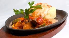 galinha e vegetais grelhados Fotografia de Stock Royalty Free