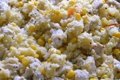Galinha fritada com vegetais Fotografia de Stock Royalty Free