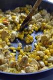 Galinha fritada com vegetais Imagem de Stock