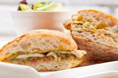 Galinha italiana do sanduíche do panini do ciabatta Foto de Stock Royalty Free