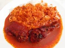 Galinha Pibil com arroz Imagens de Stock Royalty Free