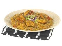 Galinha picante com arroz Foto de Stock Royalty Free