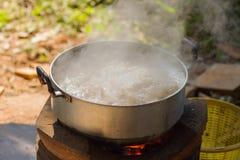 Galinha picante da sopa na bacia quente Imagem de Stock Royalty Free