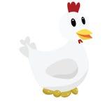 Galinha que coloca ovos dourados Foto de Stock