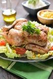 A galinha Roasted com vegetal decora Foto de Stock