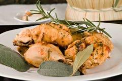 A galinha, stewed no tomate, vinho e erva sauce foto de stock royalty free