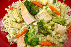 Galinha Stirfry foto de stock royalty free