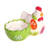 Galinha-suporte dos ovos da páscoa Fotos de Stock