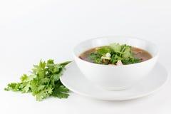 Galinha tom yum na bacia (alimento tailandês) fotos de stock royalty free
