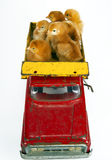 Galinhas de transporte por caminhão Fotografia de Stock