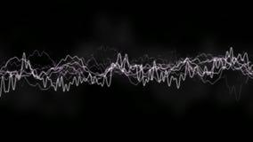 ?galiseur HUD de forme d'onde de Digital ? l'arri?re-plan noir ?l?ment abstrait technologique d'une interface futuriste illustration libre de droits
