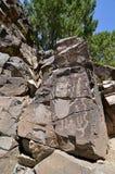 galisteo墨西哥新的刻在岩石上的文字 库存图片