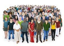 Galit av begrepp för lycka för mångfaldfolkkamratskap Royaltyfria Bilder