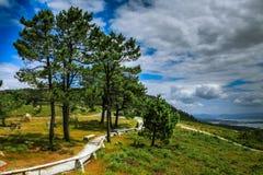 Galizische Landschaft auf der K?ste stockbild