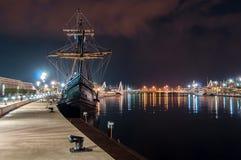 Galjoen in de haven stock afbeelding
