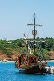 Galjoen gestileerd schip Stock Afbeeldingen