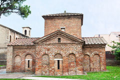 Galla placidia mausoleum in Ravenna Royalty Free Stock Photo