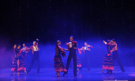 Gallant knight-Spanish flamenco-the Austria's world Dance. Late on January 9, 2015, brought by Austria World Dance World Dance staged in Jiangxi Province Arts Stock Photography
