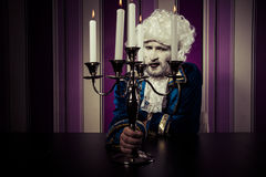 Gallant, man dressed in rococo style, concept of wealth and pove Stock Photography
