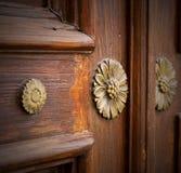 Gallarate de madera cerrado abstracto Varese Italia del crenna de la puerta Foto de archivo