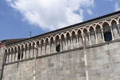 Gallarate, Italy: San Pietro church. Gallarate, Varese, Lombardy, Italy: exterior of the medieval San Pietro church Stock Photo