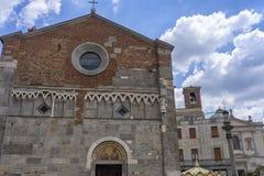 Gallarate, Italy: San Pietro church. Gallarate, Varese, Lombardy, Italy: exterior of the medieval San Pietro church Royalty Free Stock Photography