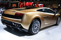 Gallardo lp 560-4 της Ιταλίας Lamborghini χρυσό Στοκ Εικόνες