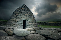 Gallarus Oratory, Ireland. County Kerry, Ireland. This early monastic building dates from the 8th century and is a striking example of dry stone building. It is