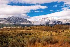 Gallatin Mountains and Sage stock photos