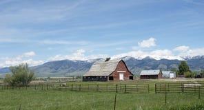 Gallatin Valley Farm Stock Photo