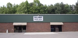 Gallaway Tennessee Municipal Complex Royalty-vrije Stock Foto's